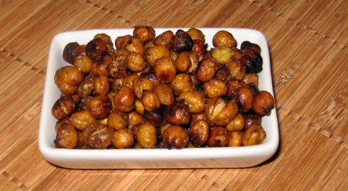 roasted chickpeas with berbere spice