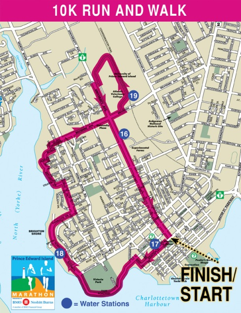 October 18, 2009 10k route