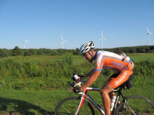 Rob Chambers approaching the East Point finish.  Amazing energy in those legs!