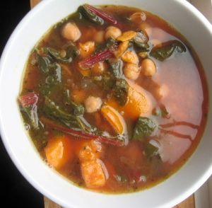 chickpea & swiss chard soup