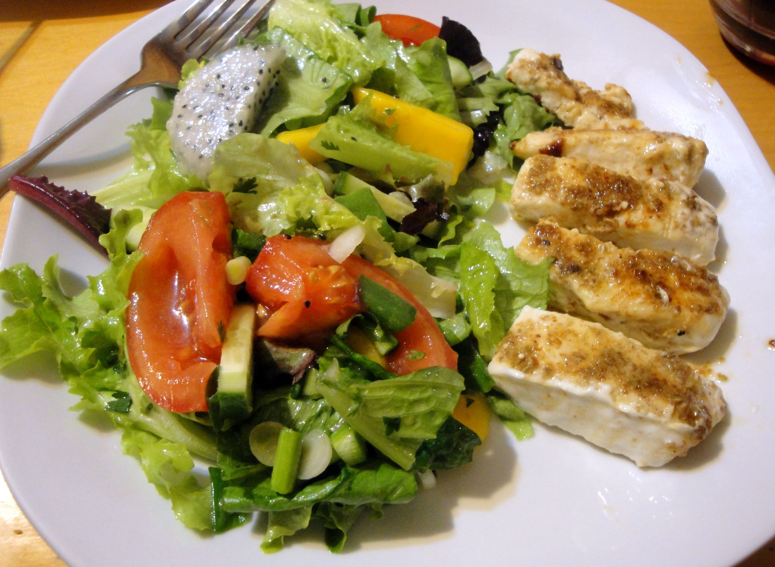 sunday salad: thai scented fish salad