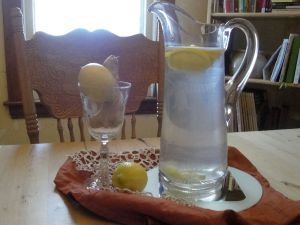 swilling H2O with lemon & ginger instead of wine is rather pleasant