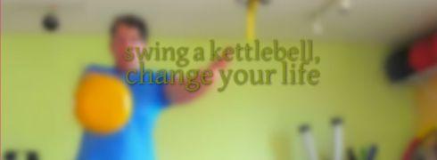swing a kettlebell